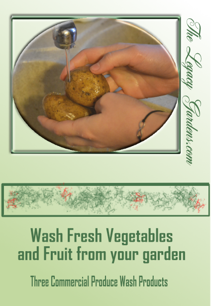 Wash vegetables and fruit  before eating