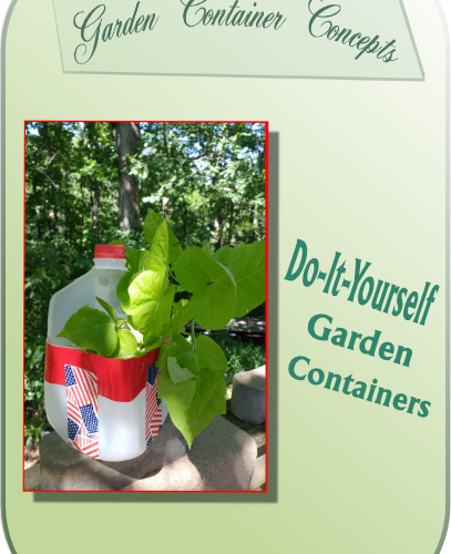 Do-it-yourself plastic gallon jug garden container