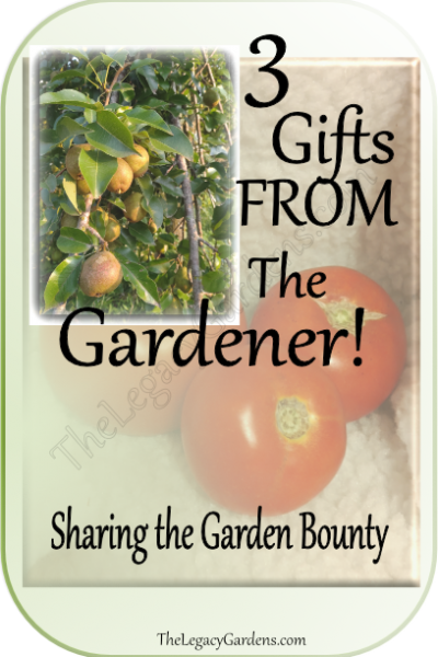 3 Gifts From the Gardener — They Love to Give!
